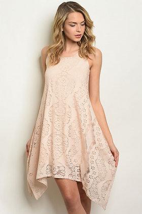Lace Light-Peach Dress