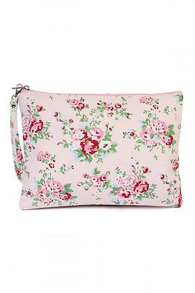 Blush Floral Wristlet