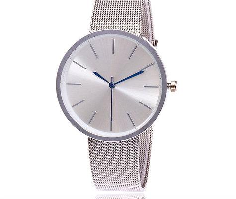 Silver Mesh Watch