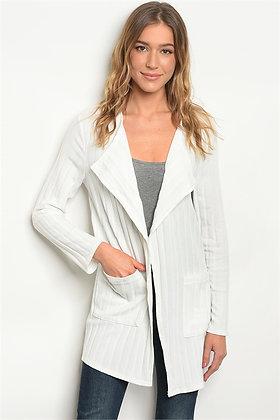 White Long Sleeve Cardigan