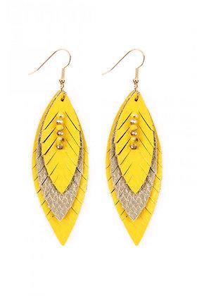 Leatherette Feather Earrings