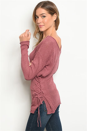 Rosy Mauve Off-Shoulder Top