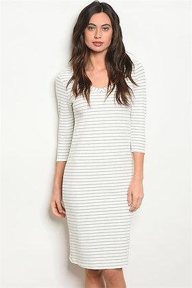 Ivory Stripes Dress