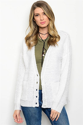 White Knit Cardigan