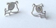 Sterling Silver Puppy Earrings