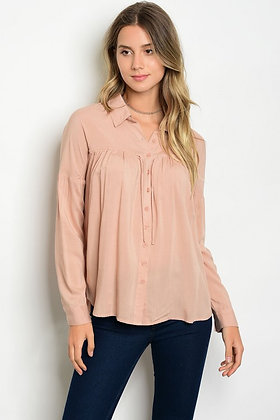 Dusty Blush Long-Sleeve Top