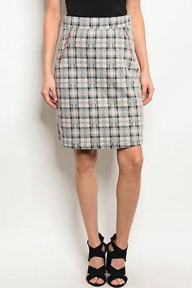 Taupe Black Skirt
