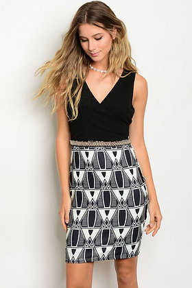 Chic Black and White Dress