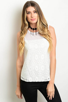 Ivory Crochet Detailed Top