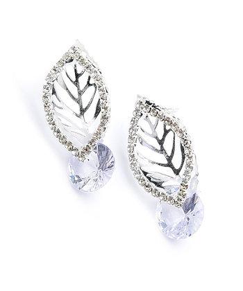 Multi Stone Leaf Shape Earrings