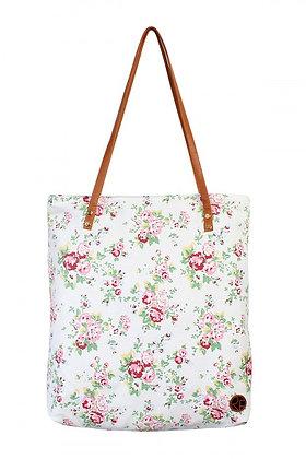Ivory Floral Print Bag