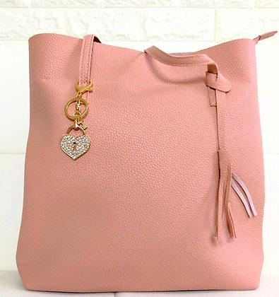 Blush Pink Minimalist Shoulder Bag
