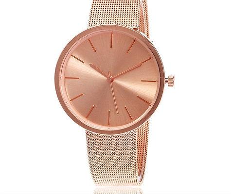 Rose Gold Mesh Watch