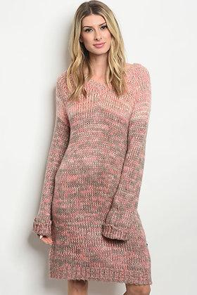 Blush Gray Sweater Dress