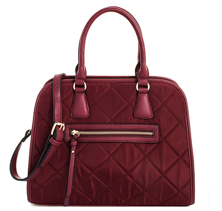 Princess Stitch Satchel - Wine