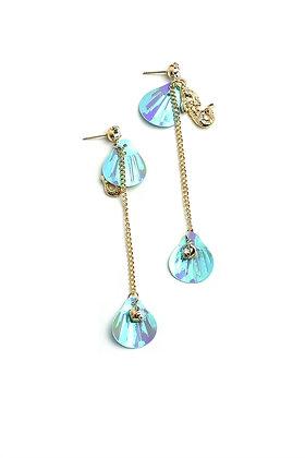 Shell Shape Chain Drop Earrings