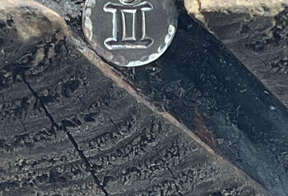 Gemini Sterling Silver Pebble Charm