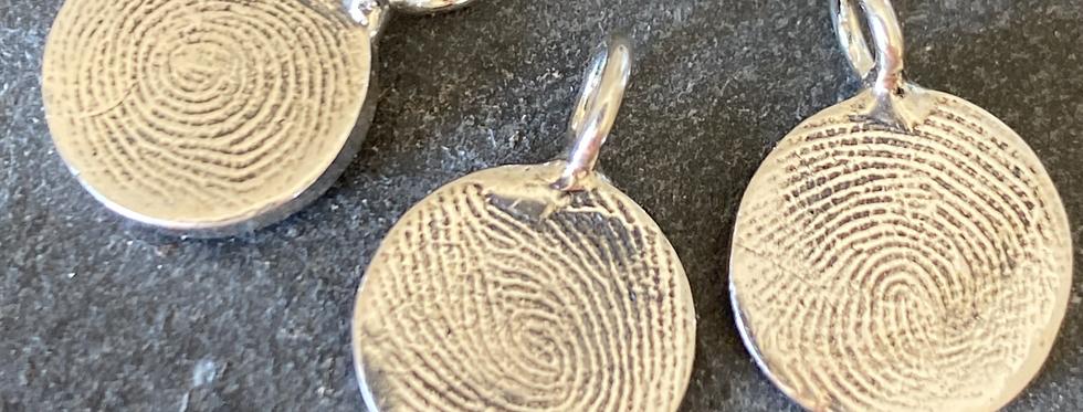 Circle Fingerprint Handmade Silver Micro'Charm