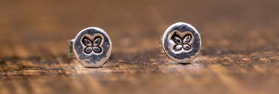 Butterfly Micro Silver Stud Earrings