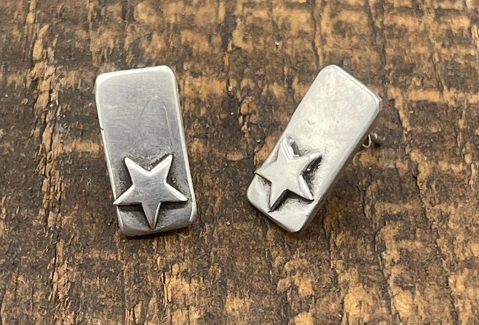 Star Silver TBar Earrings