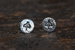 Bee Sterling Silver Stud Earrings