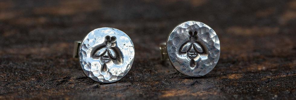 Bee Sterling Silver Stud Earrings