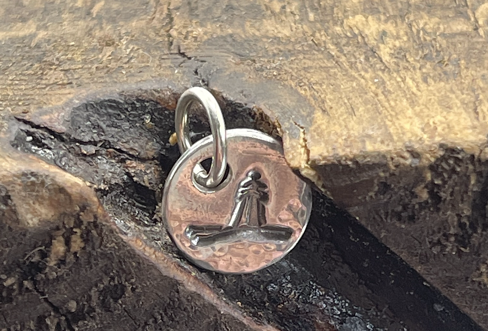Lighthouse Sterling Silver Pebble Charm