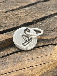 Angel Sterling Silver Pebble Charm