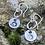Thumbnail: Hedgehog Sterling Silver Drop Earrings