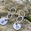 Thumbnail: Xmas Tree Sterling Silver Drop Earrings