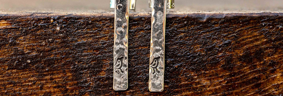 Robin TBar Sterling Silver Earrings