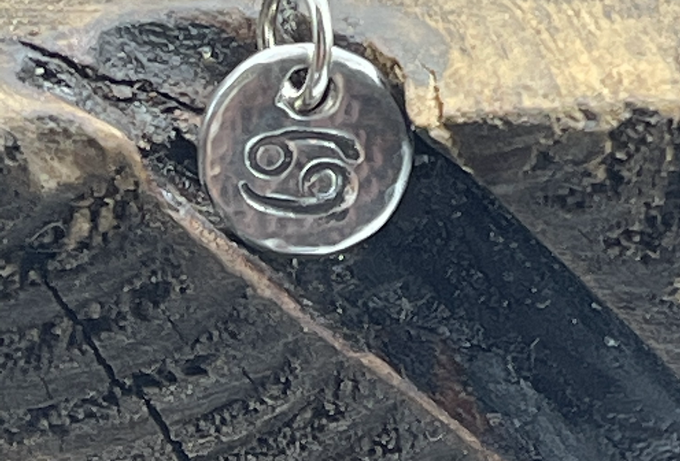 Cancer Sterling Silver Charm