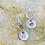 Thumbnail: Solid Heart Sterling Silver Drop Earrings