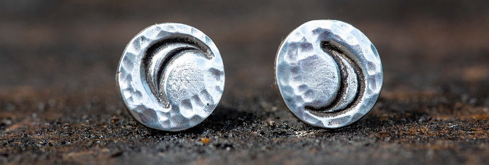 Moon Crescent Sterling Silver Earrings