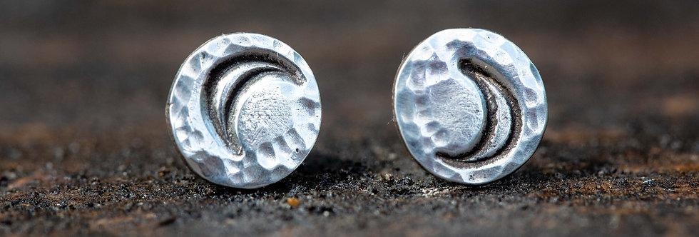 Moon Crescent Sterling Silver Earrings