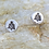 Thumbnail: Tree Xmas  Silver Stud Earrings