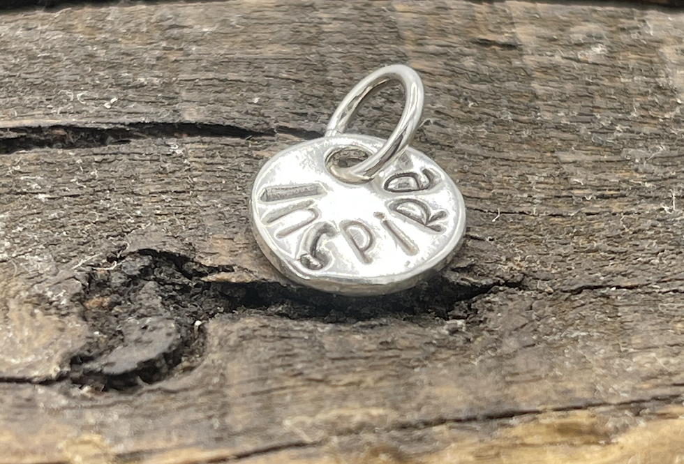 Inspire Sterling Silver Pebble Charm