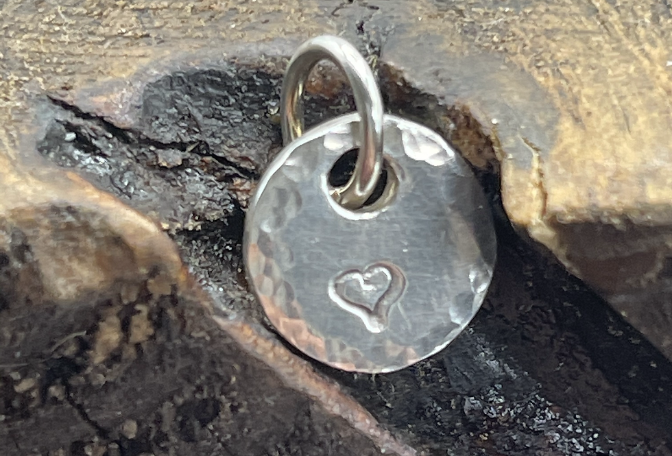 Heart Outline Sterling Silver Charm