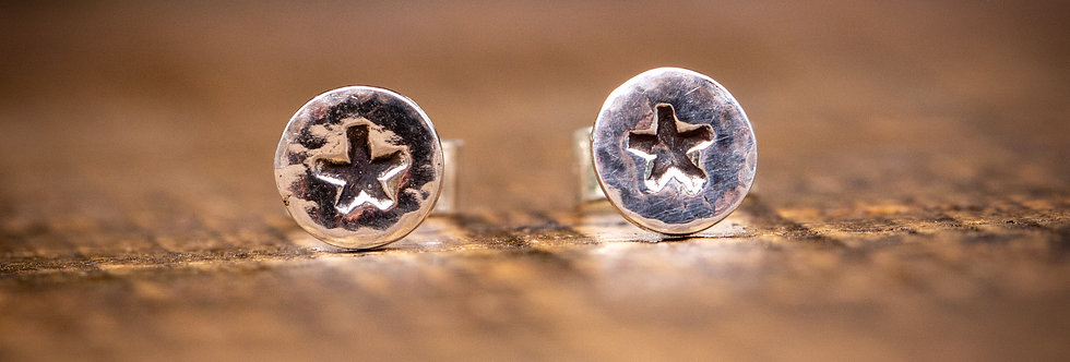 Star Micro Silver Stud Earrings