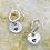 Thumbnail: Heart Outline Sterling Silver Drop Earrings