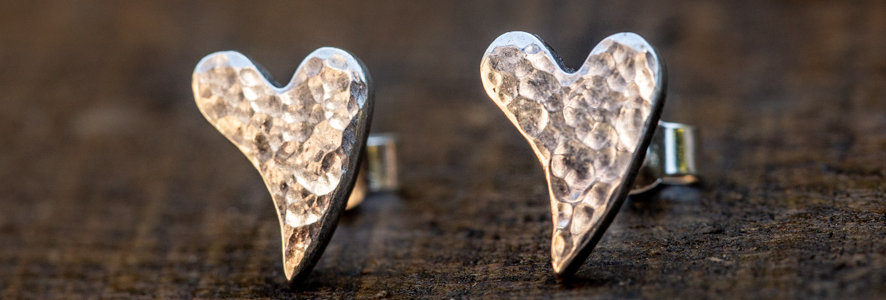 Sweeping Heart Sterling Silver Earrings