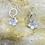 Thumbnail: Bohemian Hammered Flower Sterling Silver Drop Earrings