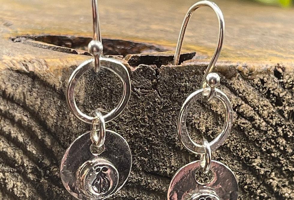 Ladybird Sterling Silver Drop Earrings