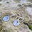 Thumbnail: Paw Print Sterling Silver Drop Earrings