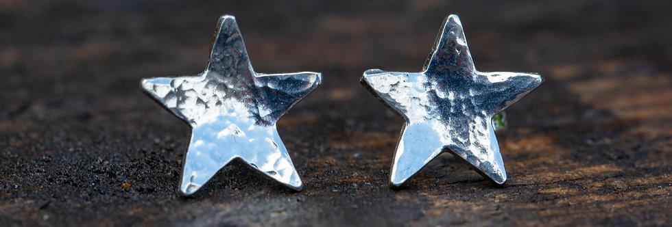 Star Sterling Silver Earring