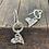 Thumbnail: Bohemian Heart Sterling Silver Drop Earrings