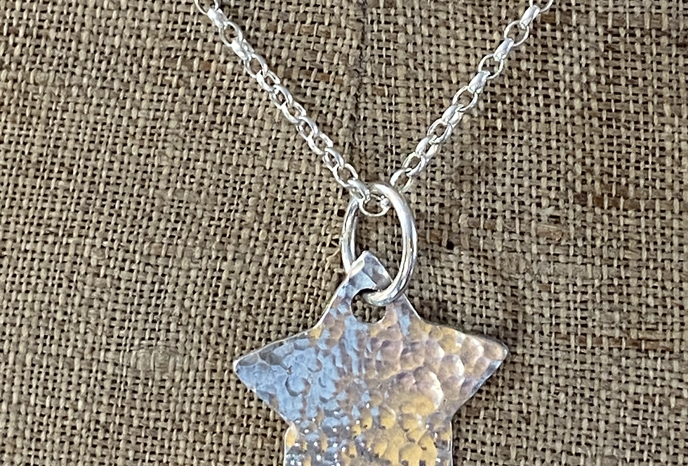 Bohemian Star Sterling Silver Necklace
