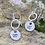 Thumbnail: Butterfly Sterling Silver Drop Earrings