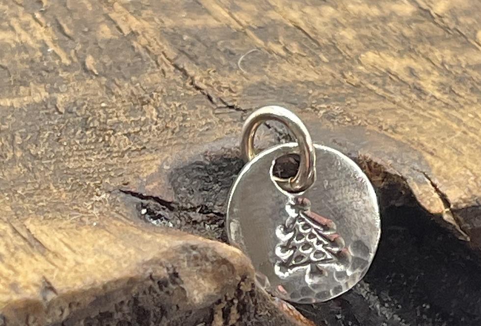 Christmas Tree  Sterling Silver Charm