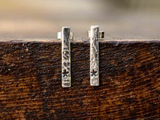 TBar Sterling Silver Studs